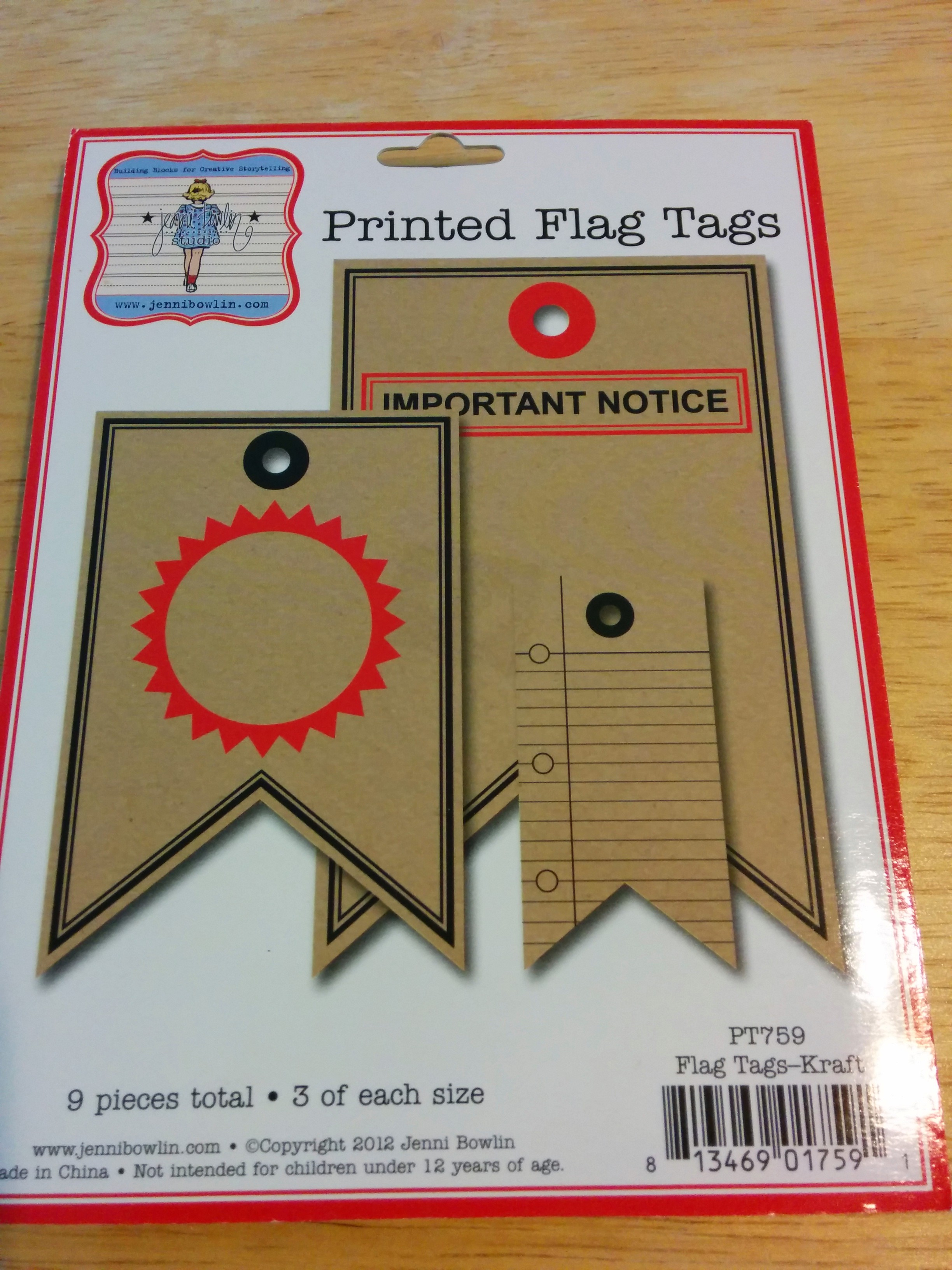 How to scrapbook materials - Printed Flag Tags Img_20140625_132141